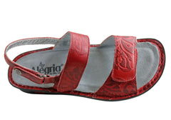 Alegria Verona Womens Comfortable Leather Adjustable Strap Sandals