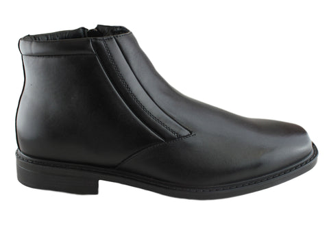 Hush Puppies Harry Mens Leather Wide Fit Boots