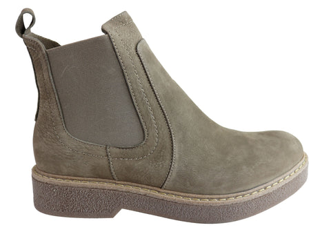 Orizonte Lana Womens European Comfortable Leather Chelsea Ankle Boots
