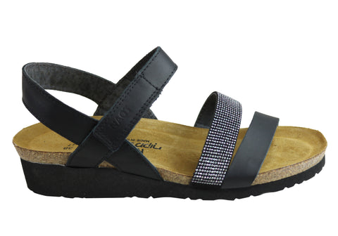 Naot Krista Womens Leather Comfortable Cushioned Supportive Sandals
