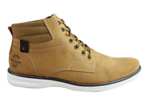 Pegada Jackson Mens Leather Lace Up Casual Boots Made In Brazil
