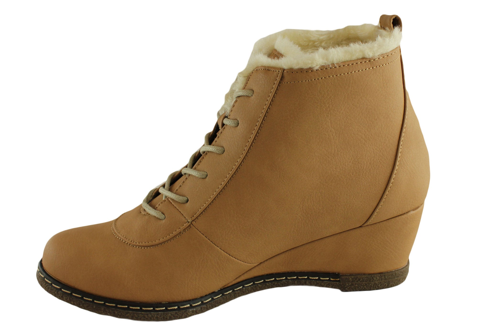 Grosby Halena Womens Wedge Ankle Boots