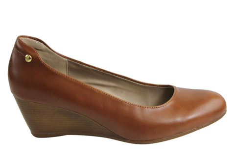 Hush Puppies Farah Rhea Womens Leather Wedge Shoes