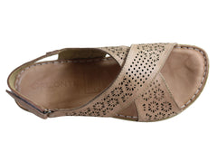 Orizonte Audrey Womens European Leather Comfortable Cushioned Sandals