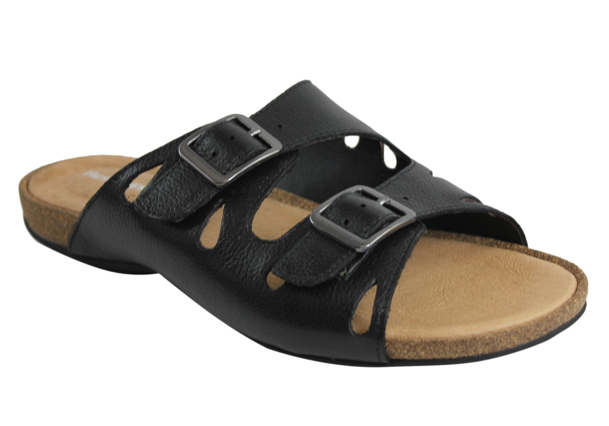 Hush Puppies Arcadia Womens Leather Comfort Slides