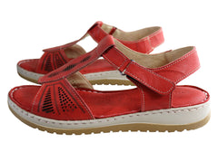 Orizonte Bessie Womens European Leather Comfortable Cushioned Sandals