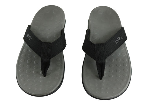 091a0c0fab96 Scholl Orthaheel Wave II Womens Comfort Orthotic Thongs With Support ...