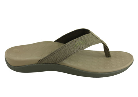 0193bfb52 Scholl Orthaheel Wave II Mens Comfort Orthotic Thongs With Support