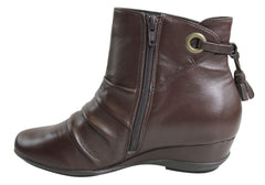 Hush Puppies Emerald Womens Leather Ankle Boots