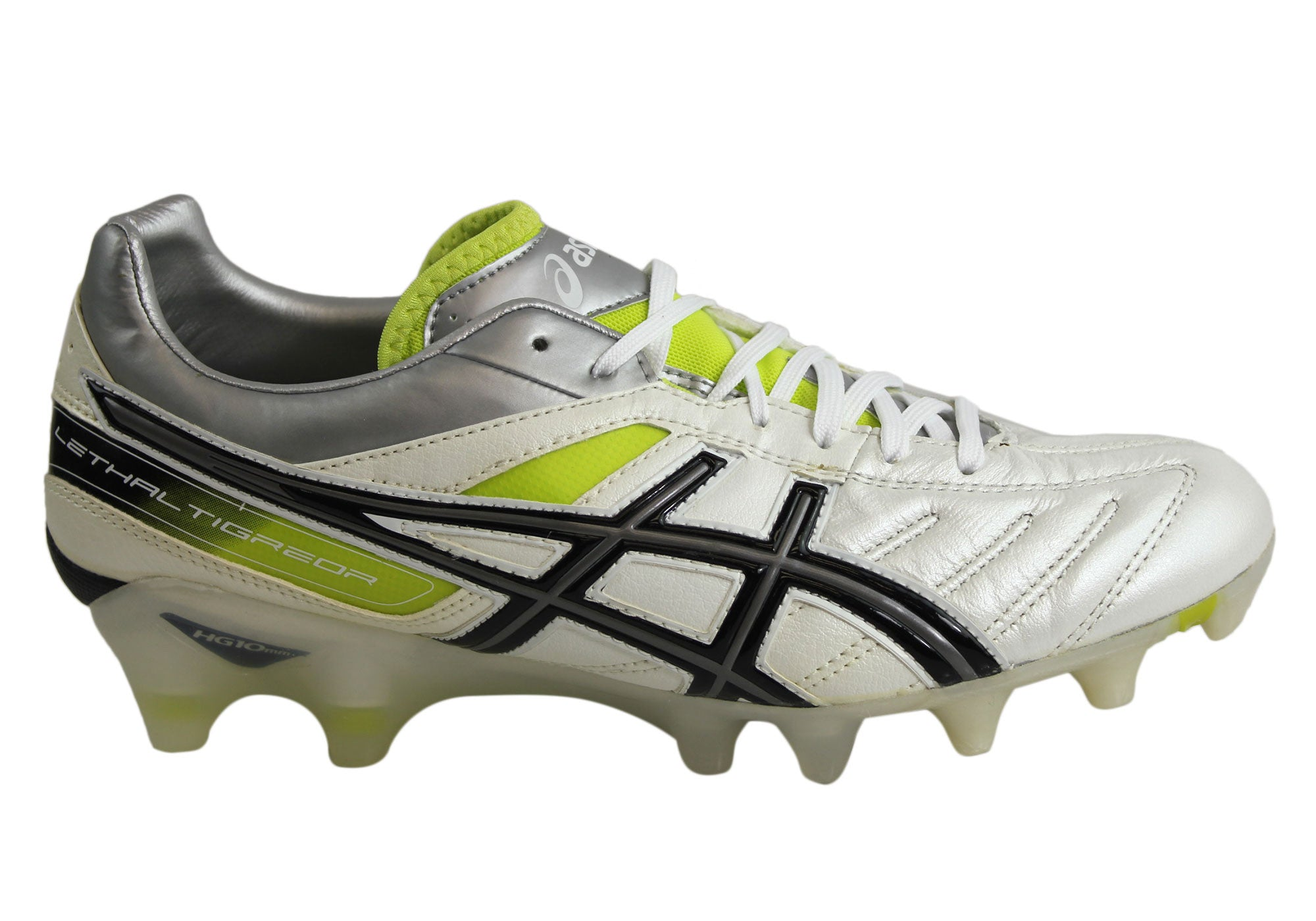 5ee255de9c6 Asics Lethal Tigreor 4 It Mens Leather Football Soccer Boots Cleats .