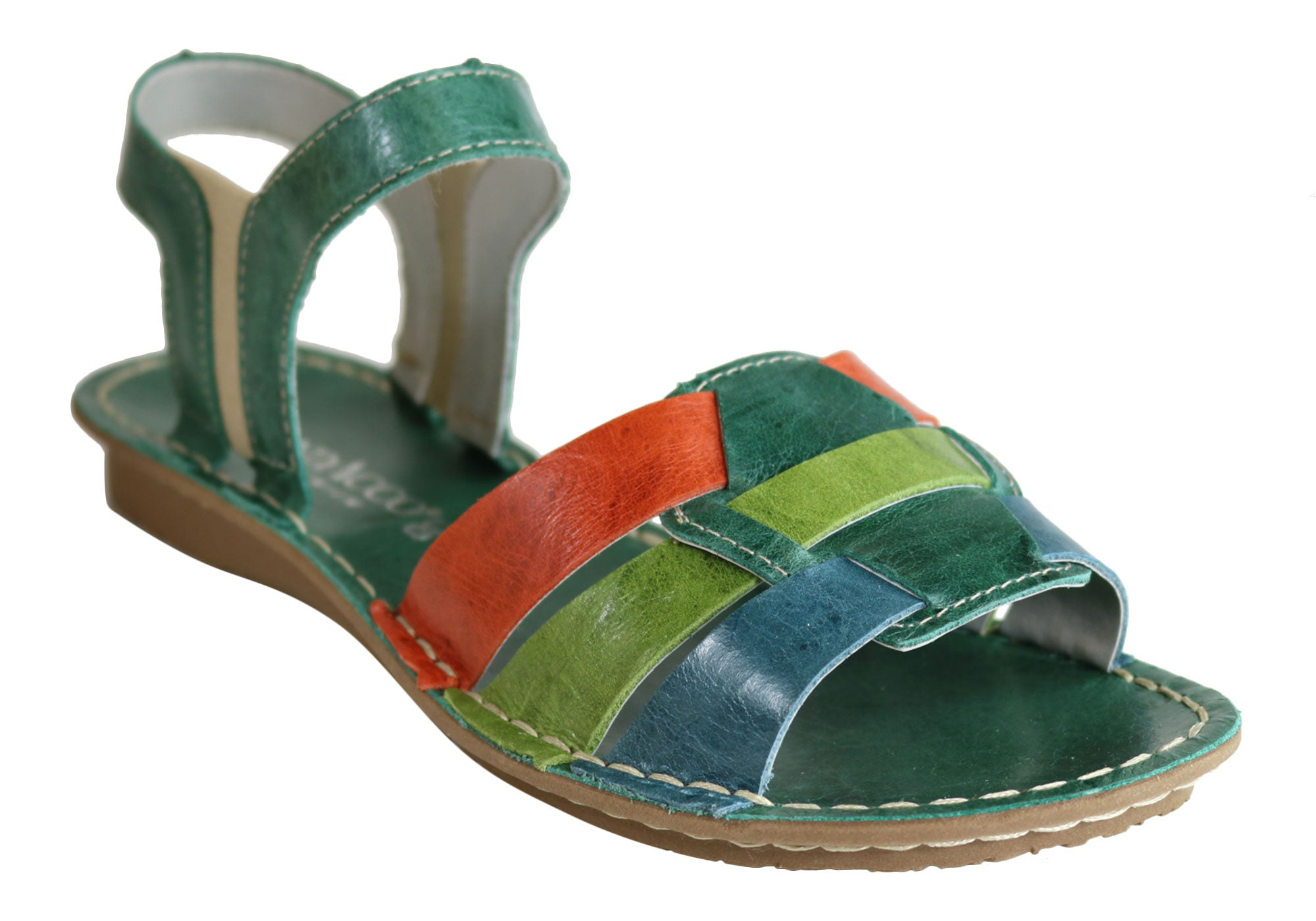c1dd5686572 Andacco Mona Womens Comfortable Flat Leather Sandals Made In Brazil ...