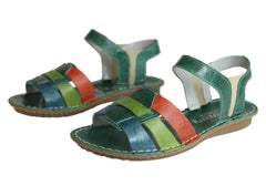 Andacco Mona Womens Comfortable Flat Leather Sandals Made In Brazil