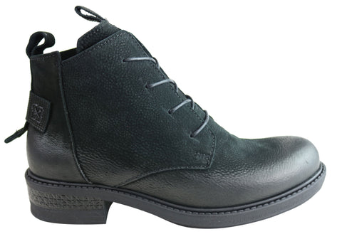 Orizonte Zen Womens European Comfortable Lace Up Leather Ankle Boots