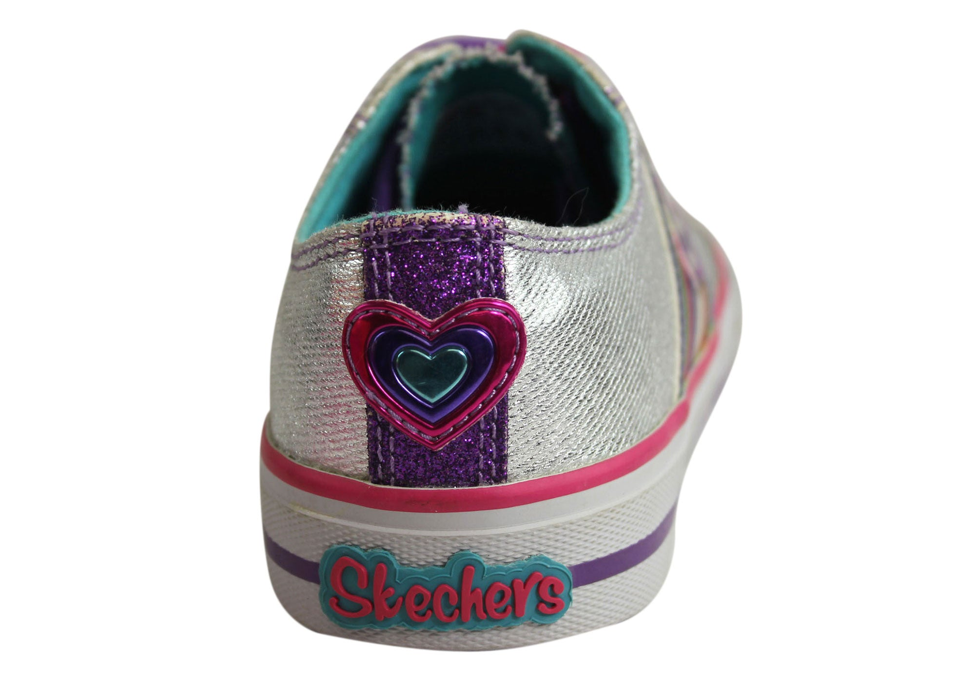 Skechers Sporty Shorty Twinkle Toes Girls Fashion Sneakers