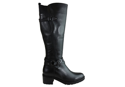 Orizonte Breezer Womens Comfortable European Leather Knee High Boots