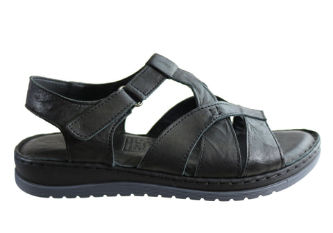 Orizonte Stacey Womens European Leather Comfortable Cushioned Sandals