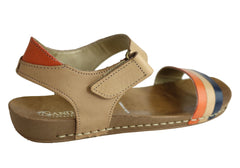 Andacco Canni Womens Comfortable Flat Leather Sandals Made In Brazil