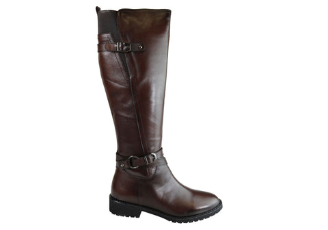 Orizonte Hobart Womens Comfortable European Leather Knee High Boots