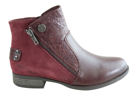 Planet Shoes Ryde Womens Comfortable Ankle Boots With Arch Support