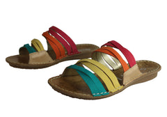 Andacco Miami Womens Comfort Flat Leather Slide Sandals Made In Brazil