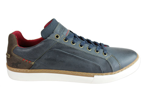 Wild Rhino Juddy Mens Leather Lace Up Casual Shoes Made In Portugal