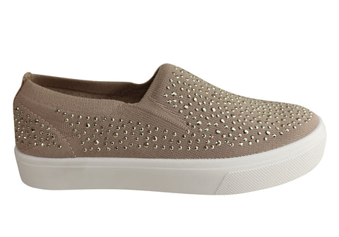 Skechers Womens Poppy Studded Affair Comfort Memory Foam Casual Shoes