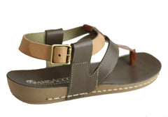 Andacco Yory Womens Comfort Flat Leather Sandals Made In Brazil
