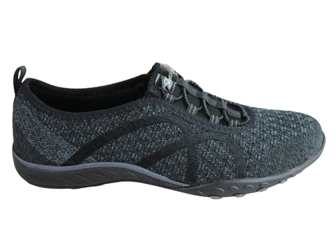 Skechers Womens Relaxed Fit Breathe Easy Fortune Knit Casual Shoes