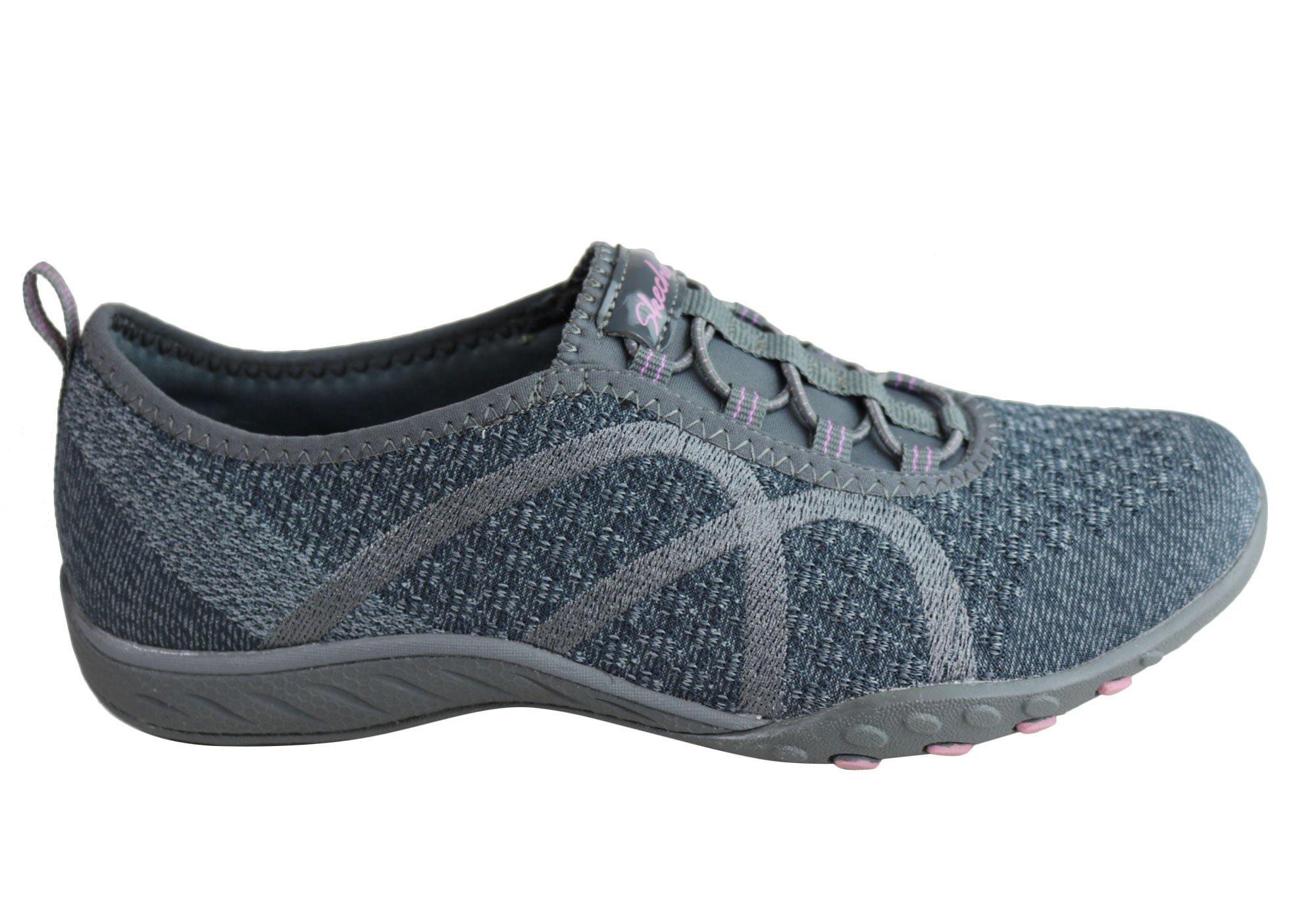 b2b16b9d740 Home Skechers Womens Relaxed Fit Breathe Easy Fortune Knit Casual Shoes.  Charcoal ...