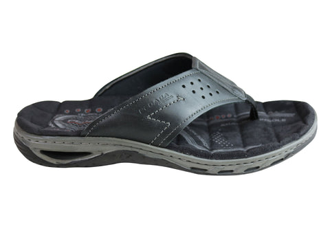 7f0f657d7 Pegada Teri Mens Leather Comfy Cushioned Thongs Sandals Made In Brazil