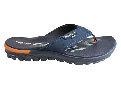 f5abf3a5f792 Scholl Orthaheel Ryder II Mens Comfort Orthotic Thongs With Support ...