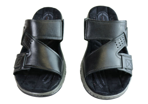 e6ca487cadc6 Pegada Andy Mens Leather Comfy Cushioned Slide Sandals Made In Brazil