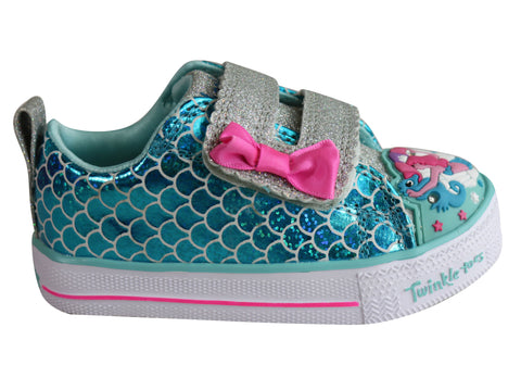 Skechers Infant Girls Twinkle Toes Shuffle Lite Mermaid Parade Shoes