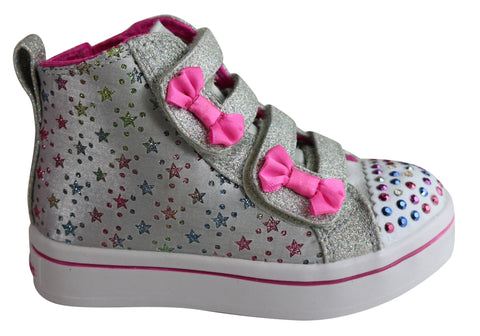 Skechers Infant Girls Twinkle Toes Twi Lites Starry Dancer Boots Shoes