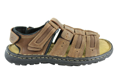 Woodlands Manny Mens Comfortable Leather Cushioned Sandals