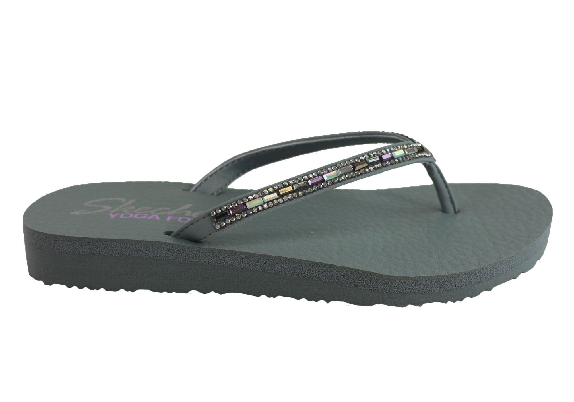 86fa62560 Home Skechers Womens Meditation Desert Princess Comfort Flip Flops. Grey ...
