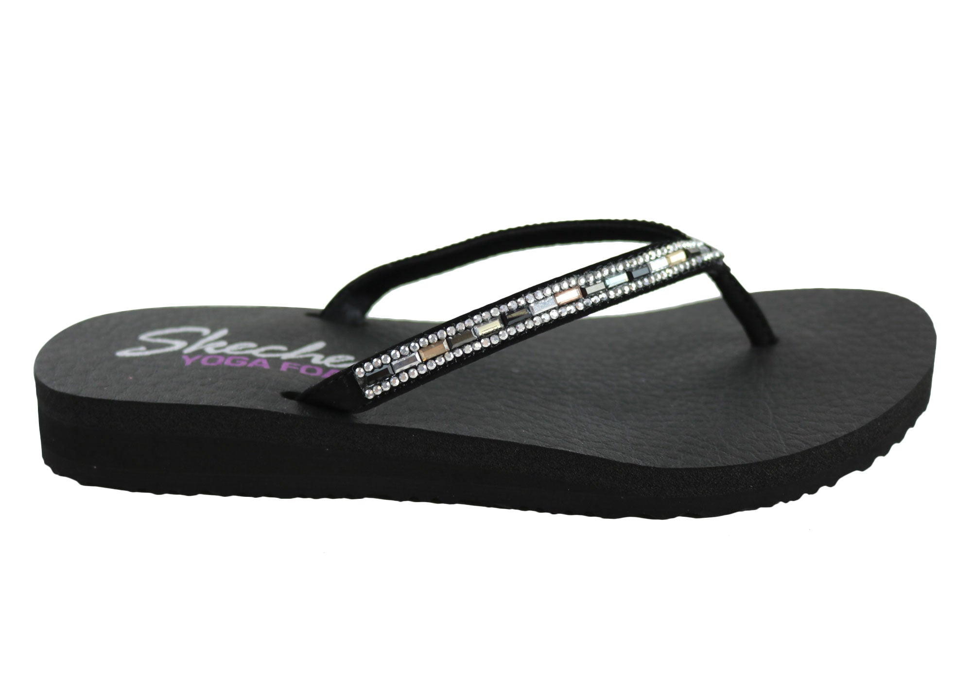 a353ae88c New Skechers Womens Meditation Desert Princess Comfort Flip Flops