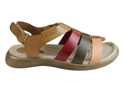 Pegada Erin Womens Comfort Cushioned Leather Sandals Made In Brazil