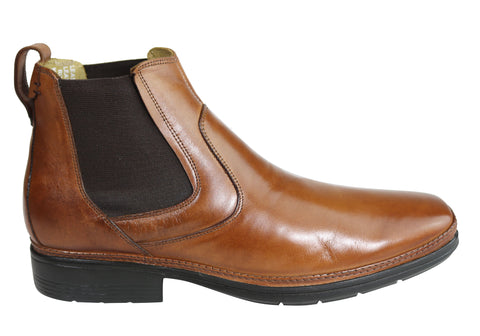 Savelli Liam Mens Comfort Leather Chelsea Dress Boots Made In Brazil