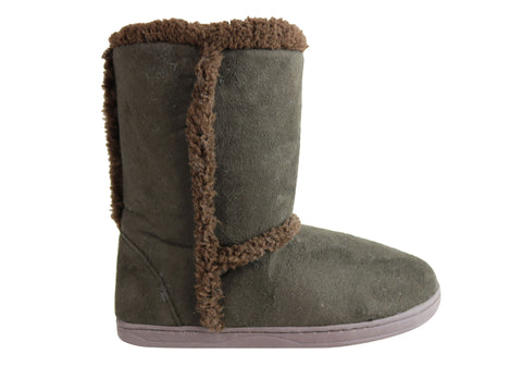 Grosby Invisible Boot Womens Warm Faux Fur Lined Comfortable Boots