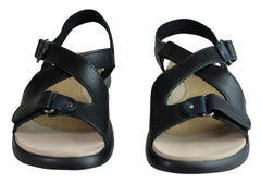 Pegada Ali Womens Comfort Adjustable Leather Sandals Made In Brazil