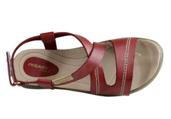 Pegada Pippa Womens Comfort Cushioned Leather Sandals Made In Brazil