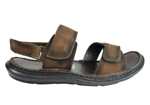Savelli Sebastian Mens Leather Adjustable Sandals Made In Brazil