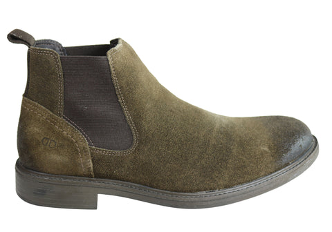 Democrata Carlos Mens Leather Comfortable Chelsea Boots Made In Brazil