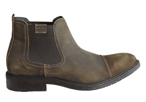 Democrata Carson Mens Leather Comfortable Chelsea Boots Made In Brazil