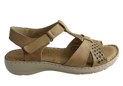 Orizonte Tika Womens European Leather Comfortable Cushioned Sandals