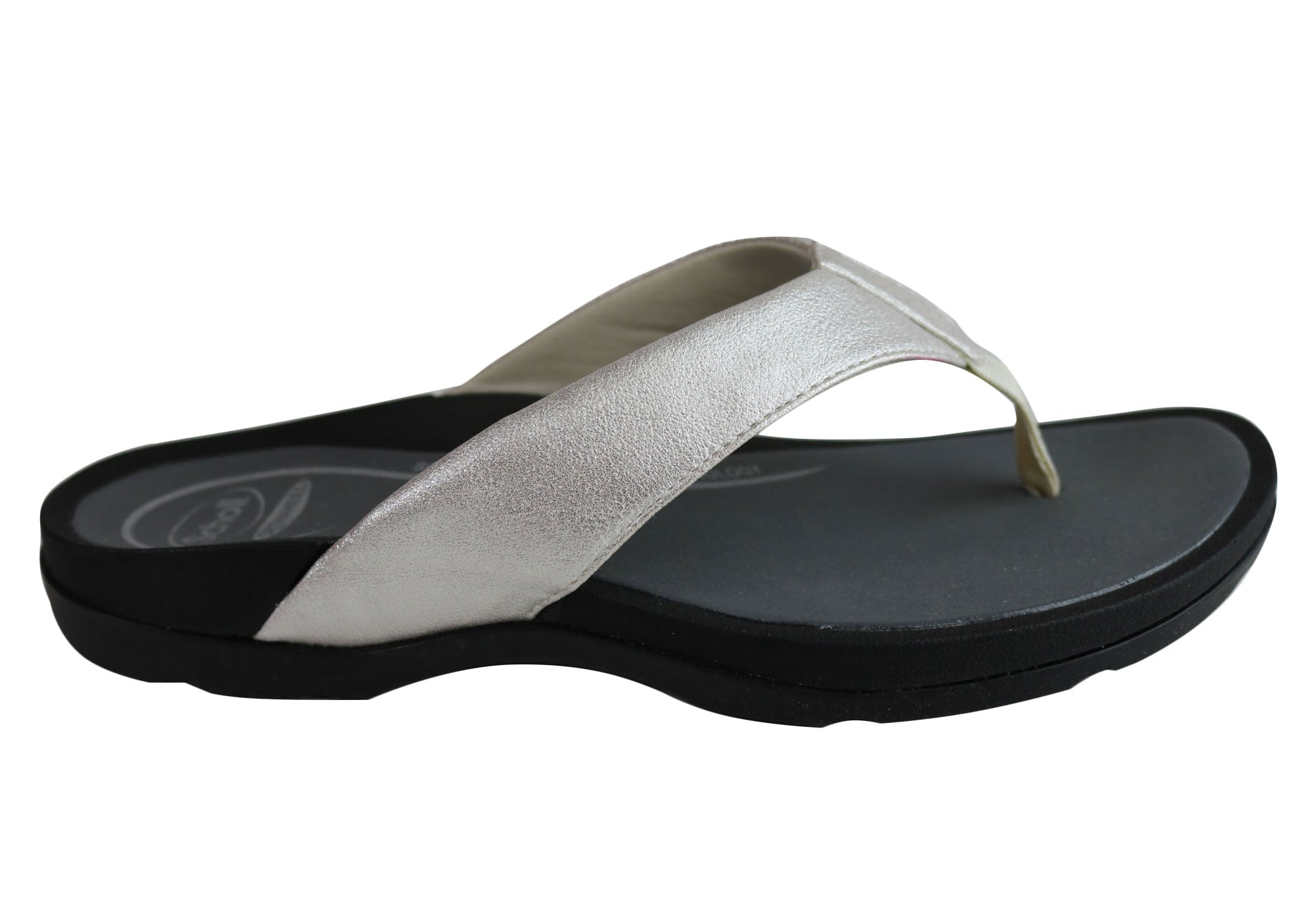 Details about Scholl Orthaheel Treasure Womens Comfort Supportive Thongs Flip Flops SSA
