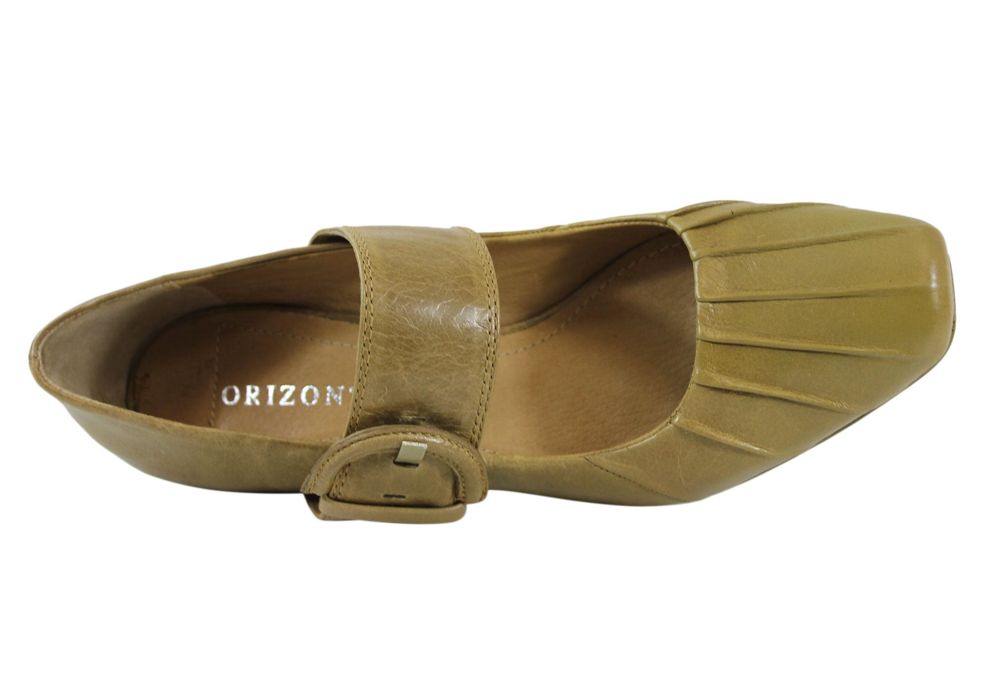 Orizonte Vezar Womens Leather Mid Heel Shoes