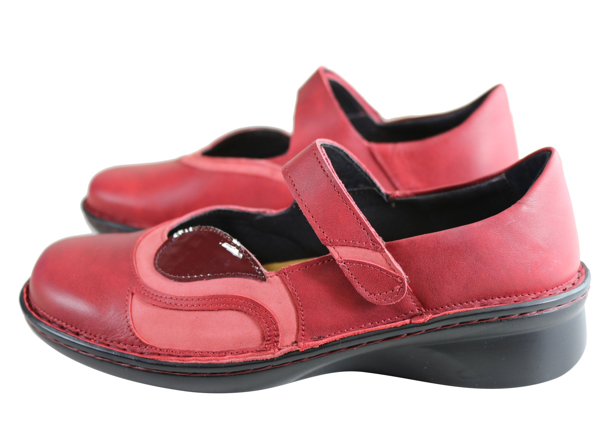 Naot Conga Womens Comfort Supportive Wide Fit Leather Mary Jane Shoes