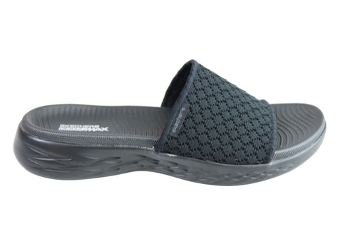 861366ea0 Skechers Womens On The Go 600 Stellar Comfort Cushioned Slide Sandals